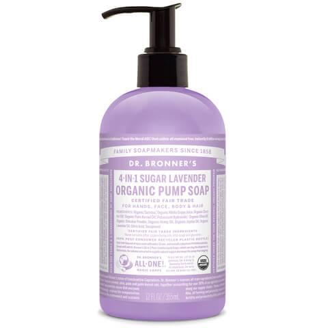 Jabón de manos de lavanda orgánica shikakai Dr. Bronner (356ml)
