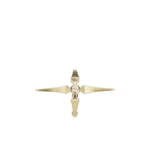 Line & Jo Women's Miss Elva Gold Diamond Ear Cuff
