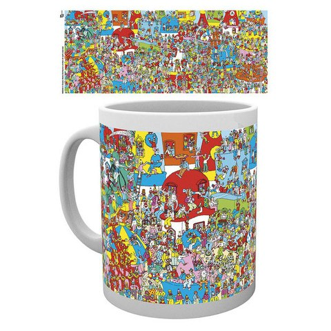 Where's Wally Clown Town Mug
