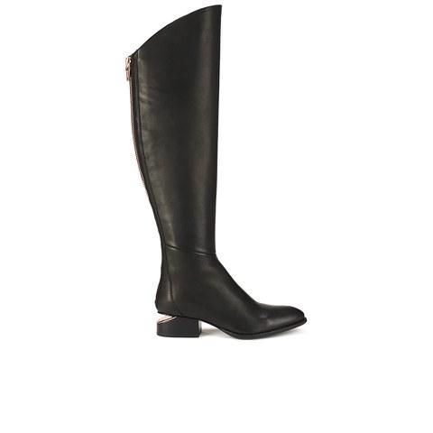 Alexander Wang Women's Sigrid Leather Knee High Boots - Black