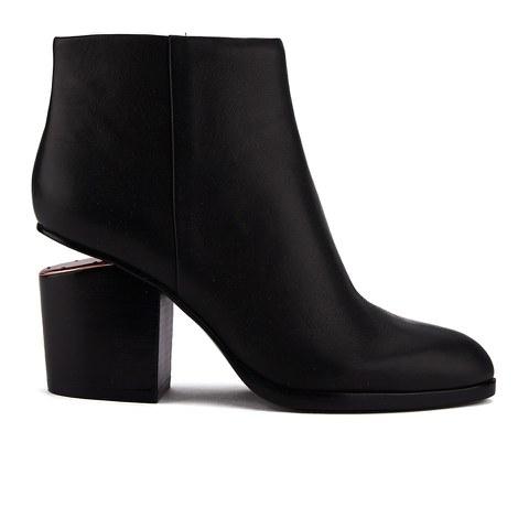 Alexander Wang Women's Gabi Leather Heeled Ankle Boots - Black/Rose Gold