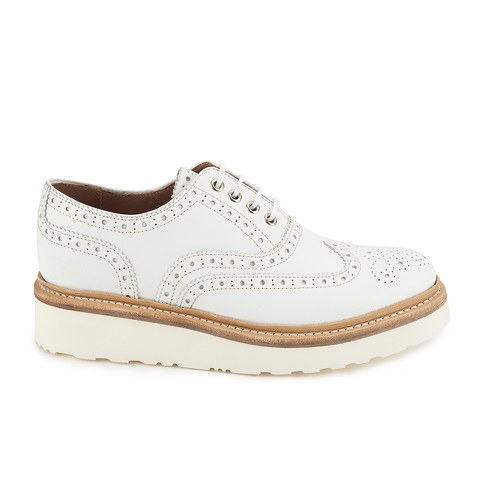 Grenson Women's Emily Leather Brogues - White Calf