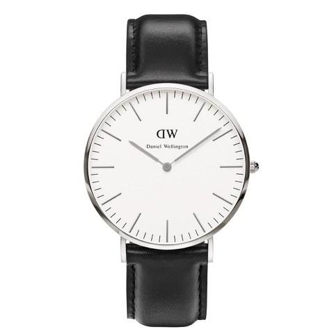 Daniel Wellington Men's Classic Sheffield Silver Watch - Black