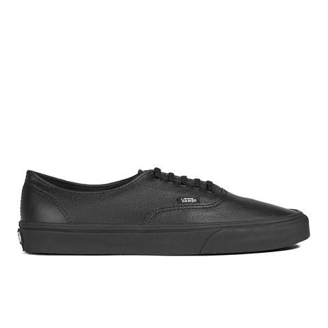 Vans Unisex Authentic Decon Premium Leather Trainers - Black/Black