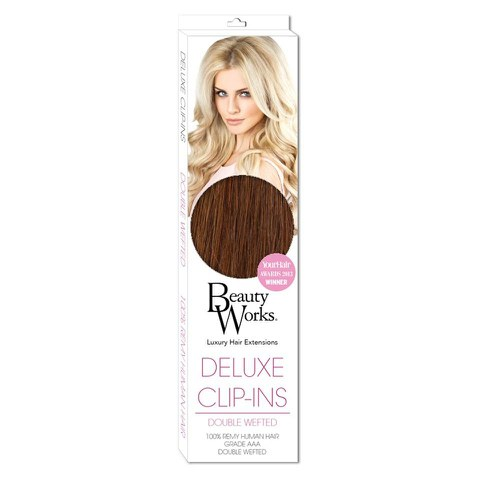 Beauty Works Deluxe Clip-In Hair Extensions 18 Inch - Caramel 6