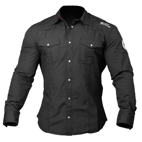 Better Bodies Men's Flex Shirt - Wash Black