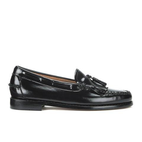 Bass Weejuns Women's Kiltie Leather Moc Tassle Loafers - Black