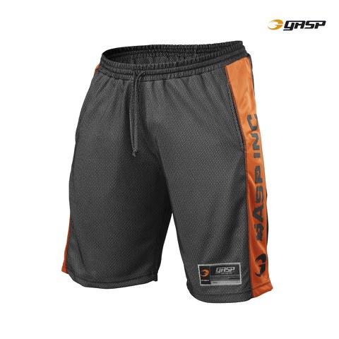 GASP No1 Mesh Shorts - Black/Flame
