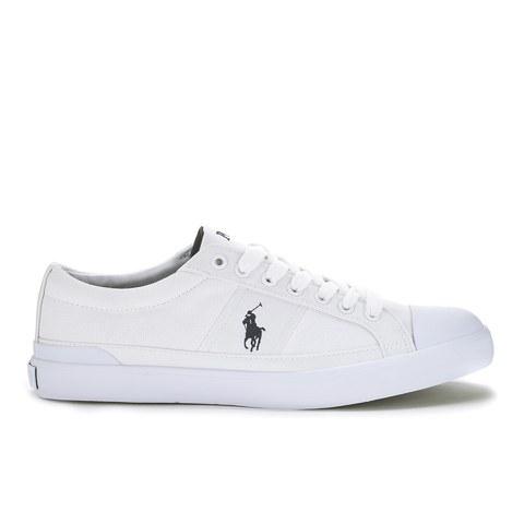Polo Ralph Lauren Men's Churston-Ne Canvas Trainers - Pure White
