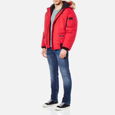canada goose chilliwack coyote-trimmed down-filled bomber jacket