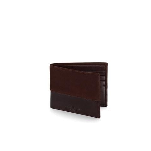 Aspinal of London Men's Shadow Billfold Wallet - Brown