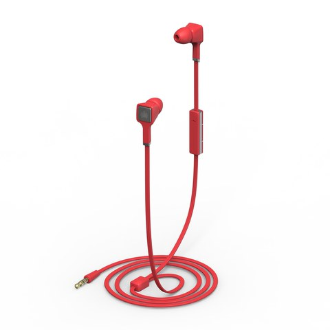 Ministry of Sound Audio Earphones - Red and Gun Metal