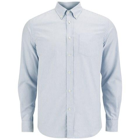 Tripl Stitched Men's Candy Stripe Long Sleeve Shirt - Sky
