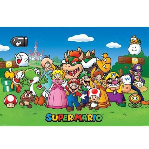 Nintendo Super Mario Characters - 24 x 36 Inches Maxi Poster