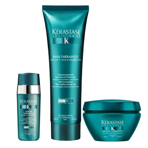 Kérastase Resistance Therapiste  trio shampooing (250ml), masque (200ml) et sérum (30ml)