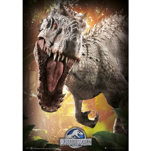 Jurassic World Indominus Rex - 19 x 26 Inches Metallic Poster