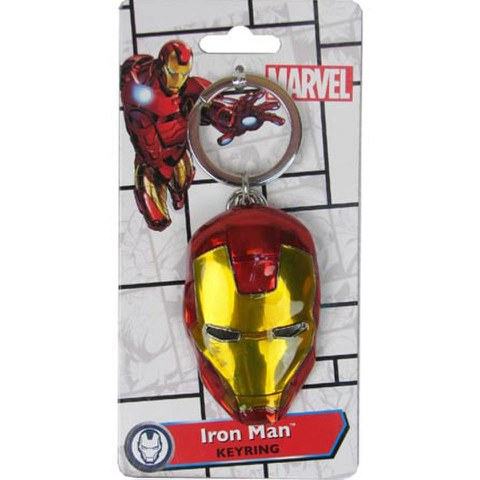 Marvel Avengers Age of Ultron Iron Man Head Coloured Pewter Key Chain