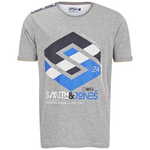 Smith & Jones Men's Stoneleigh T-Shirt - Mid Grey Marl