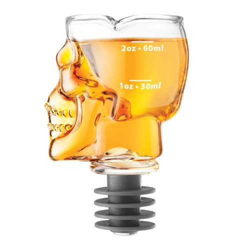 Skull Bottle Stopper/Jigger Drink Measurer