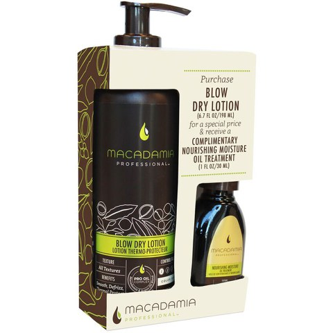 Macadamia Blow Dry Lotion Duo (Free 30ml Oil)