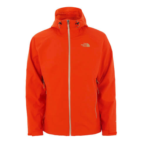 The North Face Men's Stratos Hyvent Hooded Jacket - Acrylic Orange