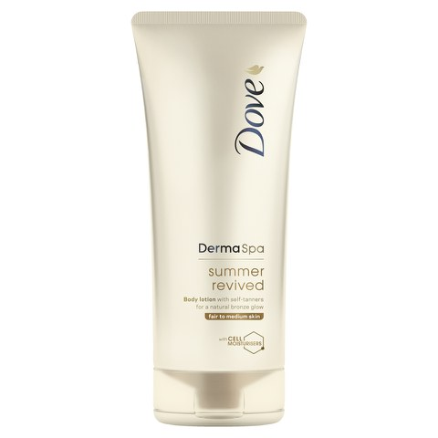 Dove DermaSpa Summer Revived Body Lotion Fair to Medium Skin (200ml)