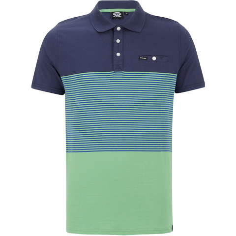 Animal Men's Engine Striped Polo Shirt - Bright Green