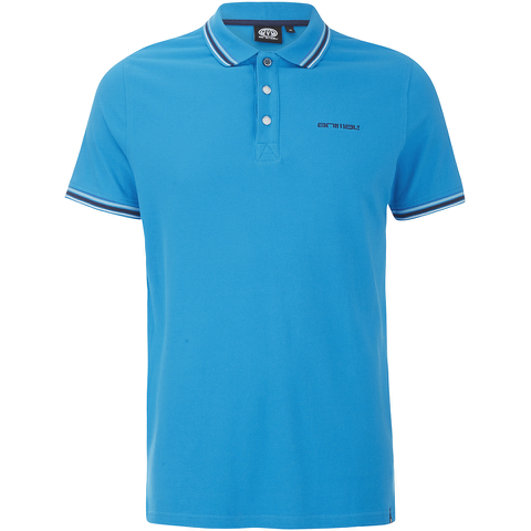 Animal Men's Pique Polo Shirt - Kingfisher Blue