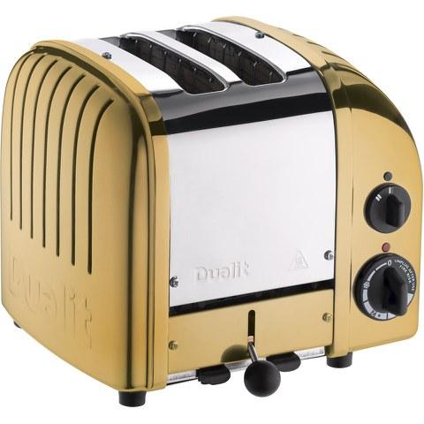 Dualit 27452 Classic Vario 2 Slot Toaster - Brass