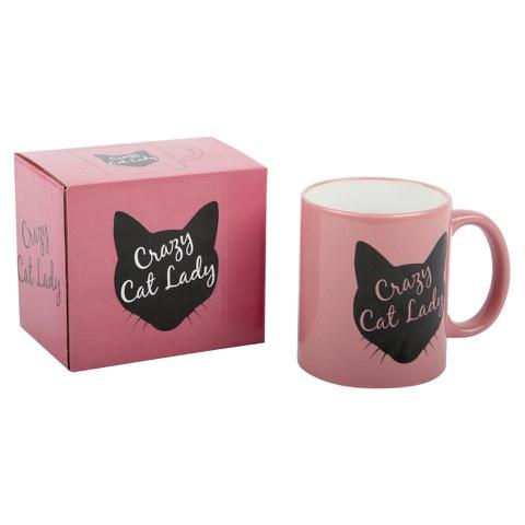 Die Verrückte Katzenlady (Crazy Cat Lady) Tasse