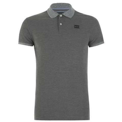 Jack & Jones Men's Part Polo Shirt - Grey Melange
