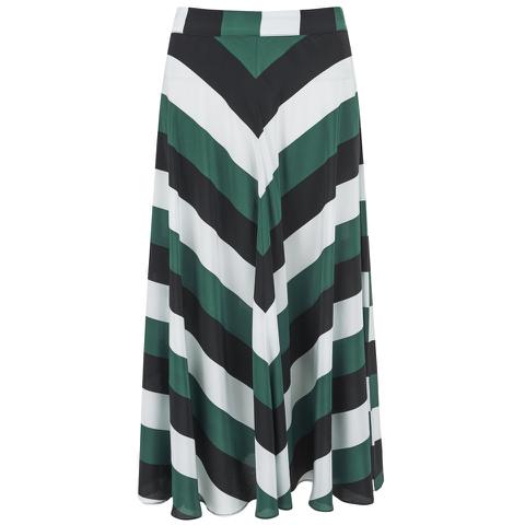 Ganni Women's Block Stripe Midi Skirt - Block Stripes