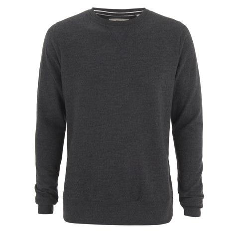 Brave Soul Men's Jones Crew Neck Sweatshirt - Dark Charcoal Marl