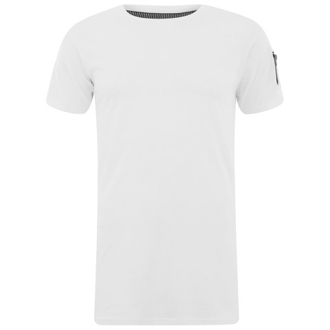 Eclipse Men's Gilson Zip Sleeve Longline T-Shirt - White