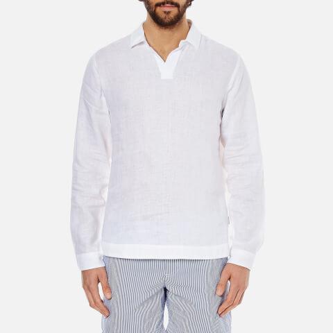 Orlebar Brown Men's Ridley Long Sleeve Smock - White