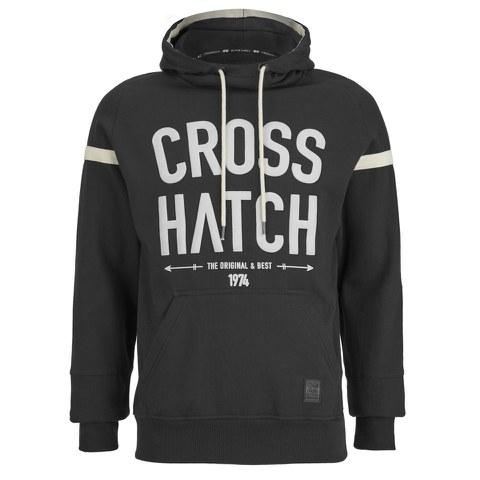 Crosshatch Men's Chassis Print Hoody - Black