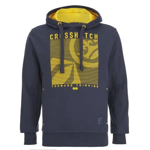 Crosshatch Men's Lambent Graphic Hoody - Iris Navy