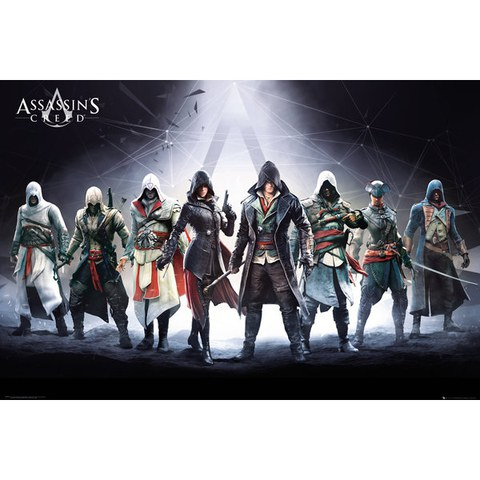 Assassins Creed Characters - 24 x 36 Inches Maxi Poster