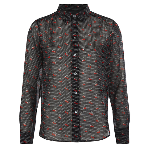 Marc by Marc Jacobs Women's Cherry Pindot Voile Shirt - Black