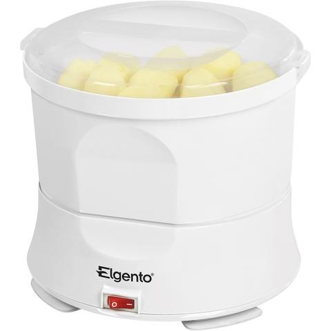Elgento E010 Potato Peeler and Salad Spinner - White