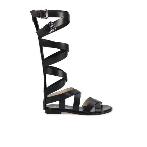 MICHAEL MICHAEL KORS Women's Darby Vachetta Knee High Gladiator Sandals - Black