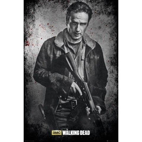 The Walking Dead Rick Black and White - 24 x 36 Inches Maxi Poster