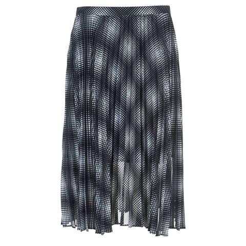 MICHAEL MICHAEL KORS Women's Mystic Pleat Skirt - New Navy