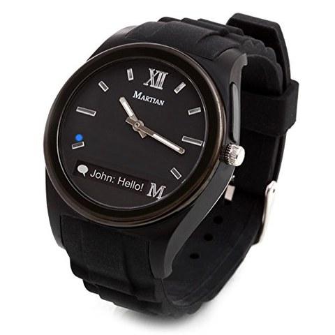 Martian Notifier Smart Watch (Kompatibel mit IOS und Android) - Scwarz