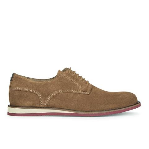 BOSS Orange Men's Volee Suede Derby Shoes - Medium Beige