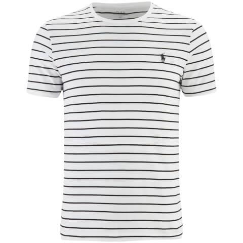 Polo Ralph Lauren Men's Striped Short Sleeve Crew Neck T-Shirt - White /Black