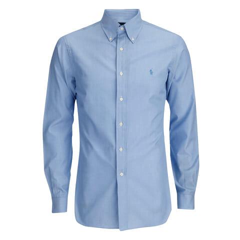 Polo Ralph Lauren Men's Tonal Logo Dress Shirt - Blue