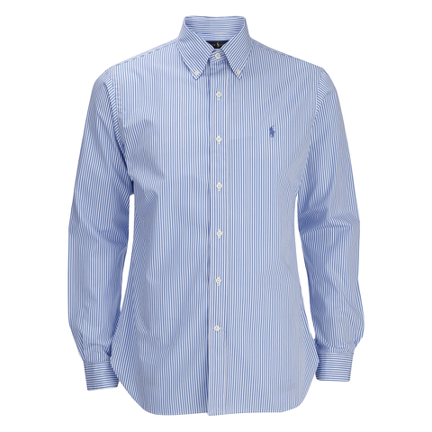 Polo Ralph Lauren Men's Small Stripe Dress Shirt - Sky