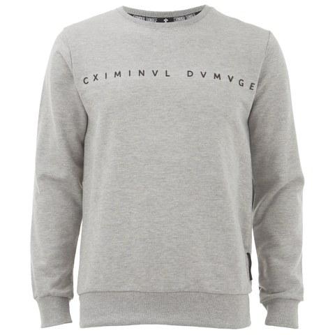 Criminal Damage Men's Gala Sweatshirt - Grey