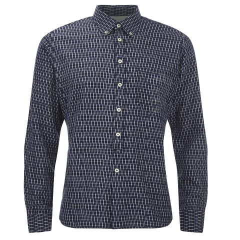 Universal Works Men's Ikat Everyday Shirt - Navy